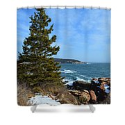 Acadian Shores In Winter Shower Curtain