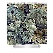 Acanthus Leaf Design Shower Curtain