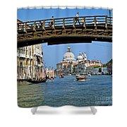 Accademia Bridge In Venice Italy Shower Curtain