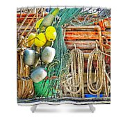 Accessories To Shrimp Catching Shower Curtain