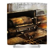 Accountant - The Adding Machine Shower Curtain by Mike Savad