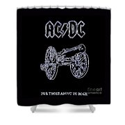 Acdc - Black Shower Curtain