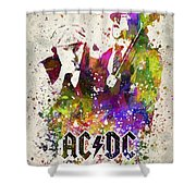 Acdc In Color Shower Curtain