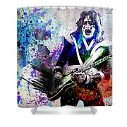 Ace Frehley - Kiss Original Painting Print Shower Curtain