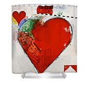 Ace Of Hearts 8-52 Shower Curtain by Cliff Spohn