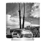 Ace Trailer Palm Springs Shower Curtain