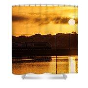 Acela Sunset Shower Curtain