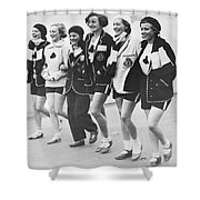 Aces Rowing Club Team Shower Curtain