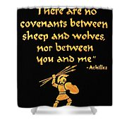 Achilles Admonition Shower Curtain