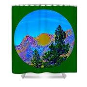 Acid Desert Orb 2 Shower Curtain