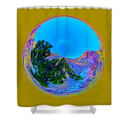 Acid Desert Orb Shower Curtain