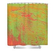 Acid Sky Hill Shower Curtain