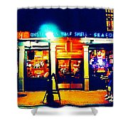 Acme Oyster Shop New Orleans Shower Curtain