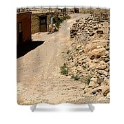 Acoma Pueblo Street Scene Shower Curtain