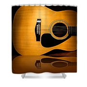 Acoustic Guitar Reflected Shower Curtain