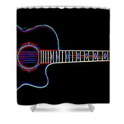 Acoustic Steel 6 Shower Curtain