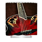 Acoustical Red Shower Curtain