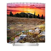 Acropolis Of Eretria  Shower Curtain