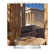 Acropolis Temple Shower Curtain by Brian Jannsen