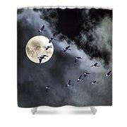 Across A Harvest Moon Shower Curtain