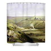 Across Jerusalem Valley Shower Curtain