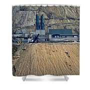 Across The Berkeley Pit Viewing  Shower Curtain