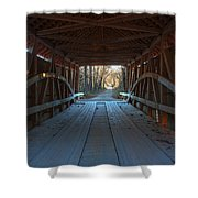 Across The Bridge And Through The Woods Shower Curtain