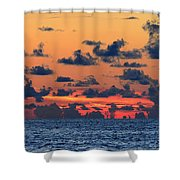 Across The Great Blue Waters Shower Curtain