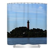 Across The Inlet Shower Curtain