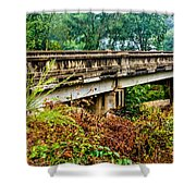 Across The Old Bridge Shower Curtain