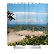 Across The Sand Shower Curtain