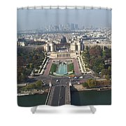 Across The Seine Shower Curtain