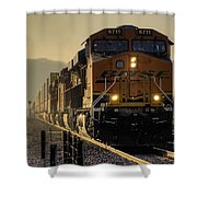 Across The Summit  Shower Curtain