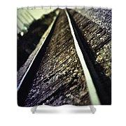 Across The Tracks Shower Curtain