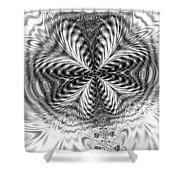 Crystal Structures Shower Curtain