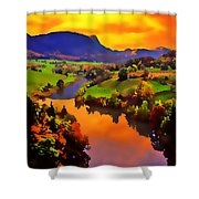 Across The Valley Shower Curtain by Stephen Anderson