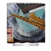Acrylic Msc 036  Shower Curtain