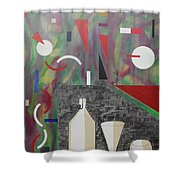 Acrylic Msc 157  Shower Curtain