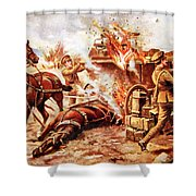 Acting-bombardier H.a. Creasey Shower Curtain