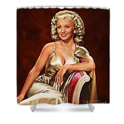 Actress Carole Landis Shower Curtain