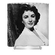 Actress Elizabeth Taylor Shower Curtain