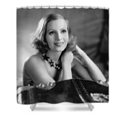 Actress Greta Garbo Shower Curtain