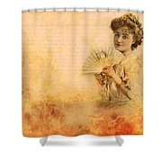 Actress In The Pink Vintage Collage Shower Curtain