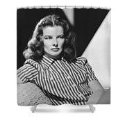 Actress Katharine Hepburn Shower Curtain
