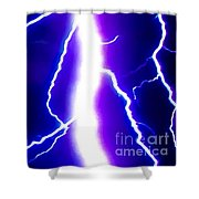 Actual Lightning In Zoom Image Shower Curtain