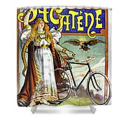 Ad Bicycles, 1898 Shower Curtain