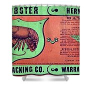 Ad Lobster, C1867 Shower Curtain