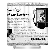 Ad Studebaker Carriages Shower Curtain