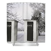 Adam And Eve Not For Me Shower Curtain