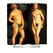 Adam Eve And The Serpent Shower Curtain